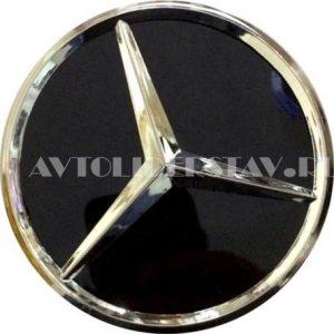 Колпачок для диска Mercedes (75/70/16) хром/черный глянец
