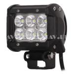 Доп. светодиодная фара B2-18W-C дальний свет 3W*6 LED (7*9,5 см)