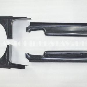 Пороги внутренние Ларгус, Renault Duster, Nissan Terrano с 2014 4шт. на липучках