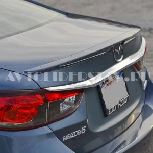 Лип спойлер багажника Mazda 6 с 2012 неокрашенный