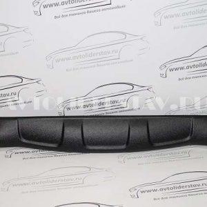 Юбка переднего бампера Lada X-Ray (шагрень черный) (ЯрПласт)