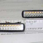 Доп. светодиодная фара K-60 2R 18LED (15,5*4 см) (из 2-х шт)