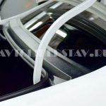 Накладка в проем заднего стекла (жабо) ABS Lada Vesta седан 2014 (ПТ групп) арт. 01400405
